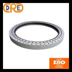 Single row cross roller slewing bearing internal gear