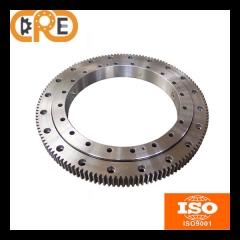 Single row cross roller slewing bearing external gear